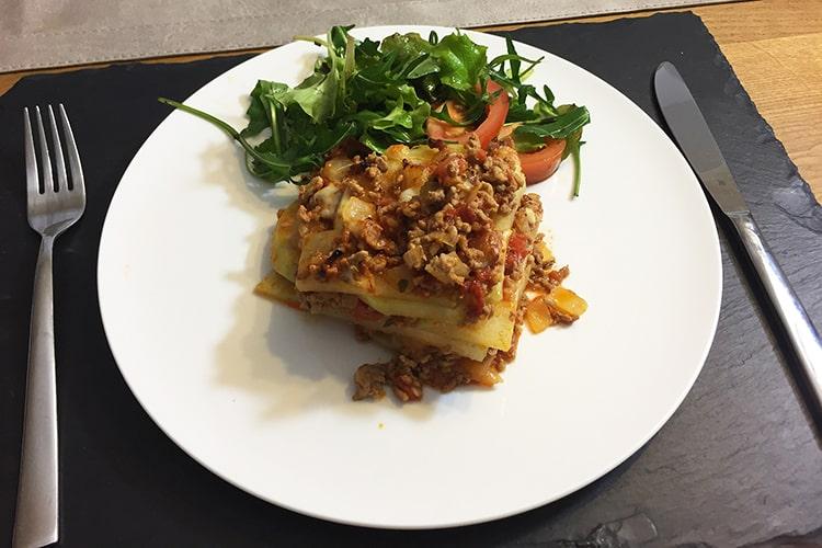 Low Carb Kohlrabi Lasagne