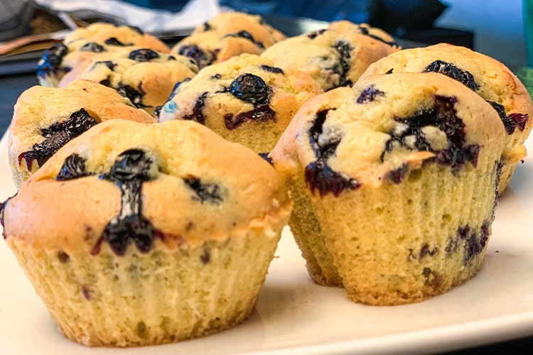 LOW CARB BLUEBERRY MUFFINS